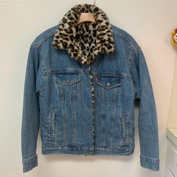 Reversible Levi's Leopard Denim Jacket
